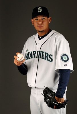 PEORIA, AZ - FEBRUARY 25:  Felix Hernandez of the Seattle Mariners poses during photo media day at the Mariners spring training complex on February 25, 2010 in Peoria, Arizona.  (Photo by Ezra Shaw/Getty Images)