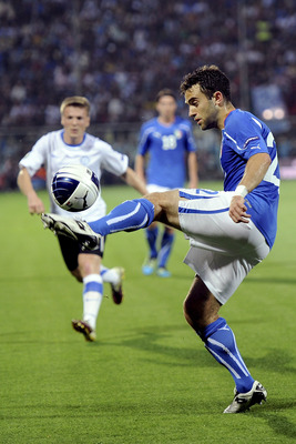 MODENA, ITALY - JUNE 03:  Giuseppe Rossi of Italy in action  during the UEFA EURO 2012 Group C qualifying match between Italy and Estonia on June 3, 2011 in Modena, Italy.  (Photo by Dino Panato/Getty Images)