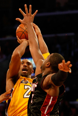 "Kobe Bryant hits a game-winning three-pointer over Dwyane Wade during ""nervous time"""