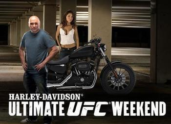 """Harley Davidson, the only motorcycle worthy of being in the Octagon"" (disclaimer-until we receive a better offer)"