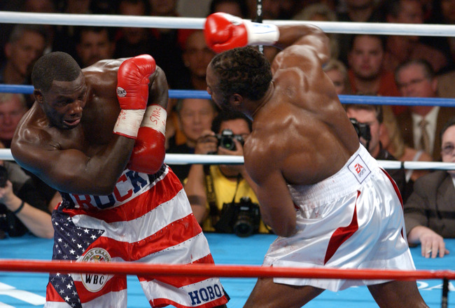 Under Pressure By Lennox Lewis During Their WBCIBF World Heavyweight  Most Knockouts Heavyweight Boxing History