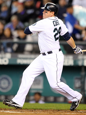 SEATTLE, WA - APRIL 13:  Jack Cust #29 of the Seattle Mariners bats against the Toronto Blue Jays at Safeco Field on April 13, 2011 in Seattle, Washington. (Photo by Otto Greule Jr/Getty Images)