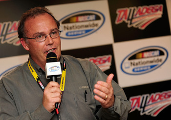 Brett Bodine help design the first Car of Tomorrow and drivers the pace car for Sprint Cup events.