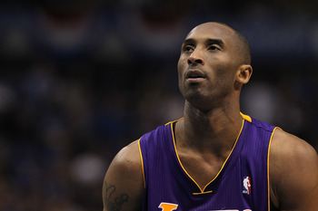 DALLAS, TX - MAY 08:  Kobe Bryant #25 of the Los Angeles Lakers in Game Four of the Western Conference Semifinals during the 2011 NBA Playoffs on May 8, 2011 at American Airlines Center in Dallas, Texas.  NOTE TO USER: User expressly acknowledges and agre