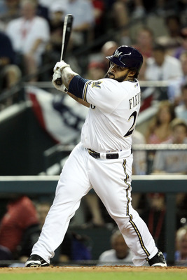 PHOENIX, AZ - JULY 12:  National League All-Star Prince Fielder #28 of the Milwaukee Brewers hits a three-run home run in the fourth inning of the 82nd MLB All-Star Game at Chase Field on July 12, 2011 in Phoenix, Arizona.  (Photo by Christian Petersen/Ge