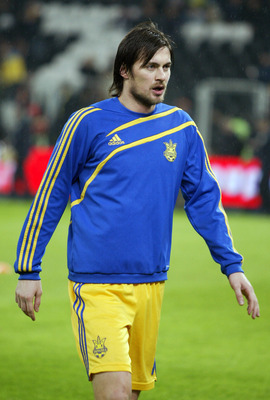 DONETSK, UKRAINE - NOVEMBER 18:  Artem Milevskiy of Ukraine walks out for the 2010 FIFA World Cup play-off second leg match between the Ukraine and Greece on November 18, 2009 in Donetsk, Ukraine. (Photo by Epsilon/Getty Images)