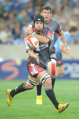 NELSPRUIT, SOUTH AFRICA - AUGUST 27:  Corne Steenkamp of the Pumas during the Absa Currie Cup match Pumas and Vodacom Blue Bulls at Mbombela Stadium on August 27, 2010 in Nelspruit, South Africa. (Photo by Lee Warren/Gallo Images/Getty Images)