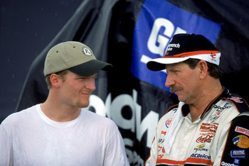 The Earnhardt's are one of three father and son combo's to win the Daytona 500