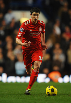 LONDON, ENGLAND - FEBRUARY 06:  Martin Kelly of Liverpool in action during the Barclays Premier League match between Chelsea and Liverpool at Stamford Bridge on February 6, 2011 in London, England.  (Photo by Laurence Griffiths/Getty Images)