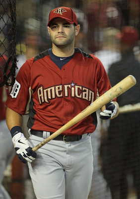 PHOENIX, AZ - JULY 12:  American League All-Star Alex Avila #13 of the Detroit Tigers looks on during batting practice before the start of the 82nd MLB All-Star Game at Chase Field on July 12, 2011 in Phoenix, Arizona.  (Photo by Jeff Gross/Getty Images)