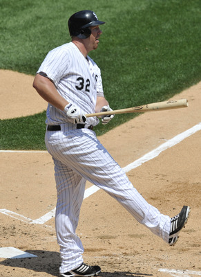 CHICAGO, IL - JULY 06: Adam Dunn # 32 of the Chicago White Sox bats against the Kansas City Royals on July 6, 2011 at U.S. Cellular Field in Chicago, Illinois. The Royals defeated the White Sox 4-1.  (Photo by David Banks/Getty Images)