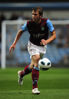 BIRMINGHAM, ENGLAND - AUGUST 06:  Stephen Warnock of Aston Villa in action during the friendly match between Aston Villa and Valencia at Villa Park on August 6, 2010 in Birmingham, England.  (Photo by Shaun Botterill/Getty Images)