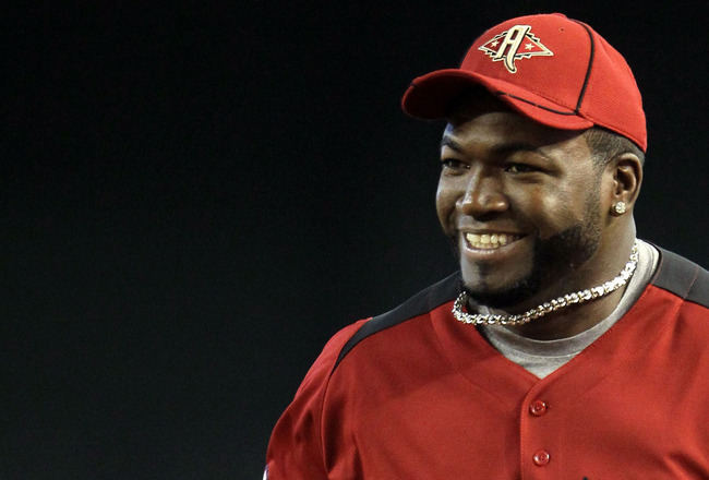 PHOENIX, AZ - JULY 12:  American League All-Star David Ortiz #34 of the Boston Red Sox looks on during batting practice before the start of the 82nd MLB All-Star Game at Chase Field on July 12, 2011 in Phoenix, Arizona.  (Photo by Jeff Gross/Getty Images)