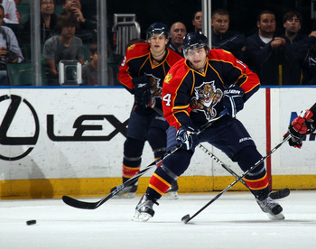 SUNRISE, FL - MARCH 10:  Sergei Samsonov #14 of the Florida Panthers skates against the Ottawa Senators at the BankAtlantic Center on March 10, 2011 in Sunrise, Florida.  (Photo by Bruce Bennett/Getty Images)