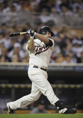 MINNEAPOLIS, MN - MAY 23: Jason Kubel #16 of the Minnesota Twins bats against the Seattle Mariners during their game on May 23, 2011 at Target Field in Minneapolis, Minnesota. The Rockies won 6-5. (Photo by Hannah Foslien/Getty Images)