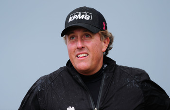 SANDWICH, ENGLAND - JULY 17:  Phil Mickelson of the United States on the 12th tee during the final round of The 140th Open Championship at Royal St George's on July 17, 2011 in Sandwich, England.  (Photo by Stuart Franklin/Getty Images)