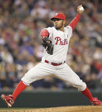 SEATTLE - JUNE 18:  Relief pitcher Antonio Bastardo #58 of the Philadelphia Phillies pitches against the Seattle Mariners at Safeco Field on June 18, 2011 in Seattle, Washington. (Photo by Otto Greule Jr/Getty Images)
