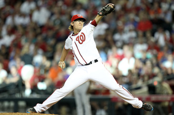 PHOENIX, AZ - JULY 12:  National League All-Star Tyler Clippard #36 of the Washington Nationals throws a pitch in the fourth inning of the 82nd MLB All-Star Game at Chase Field on July 12, 2011 in Phoenix, Arizona.  (Photo by Christian Petersen/Getty Imag