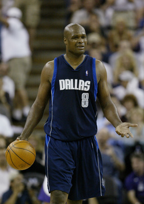 SACRAMENTO, CA- APRIL 29:  Antoine Walker #8 of the Dallas Mavericks moves the ball against the Sacramento Kings in Game five of the Western Conference Quarterfinals at Arco Arena on April 29, 2004 in Sacrametno, California.  The Kings won 19-118.  NOTE T
