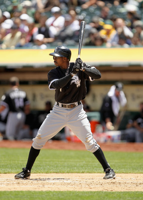 OAKLAND, CA - MAY 15:  Juan Pierre #1 of the Chicago White Sox in action against the Oakland Athletics at Oakland-Alameda County Coliseum on May 15, 2011 in Oakland, California.  (Photo by Ezra Shaw/Getty Images)