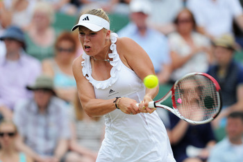 Caroline Wozniacki lost to Dominika Cibulkova at Wimbledon 2011.