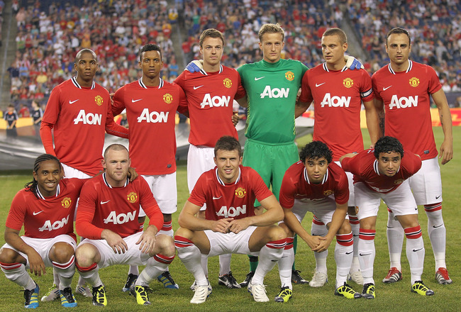 FOXBORO, MA - JULY 13:  The Manchester United competes during a friendly match against the New England Revolution at Gillette Stadium on July 13, 2011 in Foxboro, Massachusetts. (Photo by Jim Rogash/Getty Images)