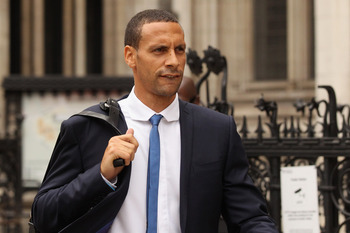 LONDON, ENGLAND - JULY 05:  Manchester United footballer Rio Ferdinand leaves the High Court on July 5, 2011 in London, England. Mr Ferdinand is seeking damages following an article published in the Sunday Mirror newspaper in April 2010 which alleged he h