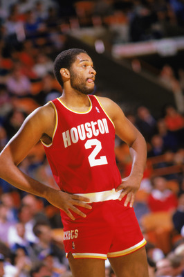 INGLEWOOD -1987:  Joe Barry Carroll #2 of the Houston Rockets waits on court during a game in the1987-88 season. NOTE TO USER: User expressly acknowledges and agrees that, by downloading and/or using this Photograph, User is consenting to the terms and co