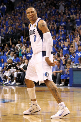 DALLAS, TX - JUNE 07:  Shawn Marion #0 of the Dallas Mavericks reacts while taking on the Miami Heat in the third quarter in Game Four of the 2011 NBA Finals at American Airlines Center on June 7, 2011 in Dallas, Texas. NOTE TO USER: User expressly acknow