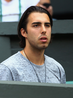 LONDON, ENGLAND - JULY 02:  NBA basketball player Sasha Vujacic attends the Ladies' final round match between Maria Sharapova of Russia and  Petra Kvitova of the Czech Republic on Day Twelve of the Wimbledon Lawn Tennis Championships at the All England La