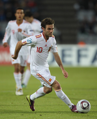 ARHUS, DENMARK - JUNE 25:  Juan Mata of Spain during the UEFA European Under-21 Championship Final match between Spain and Switzerland at the Arhus Stadium on June 25, 2011 in Arhus, Denmark.  (Photo by Michael Steele/Getty Images)