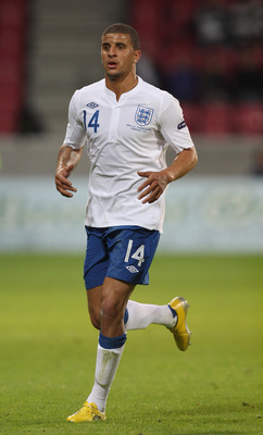 HERNING, DENMARK - JUNE 15:  Kyle Walker of England during the UEFA European Under-21 Championship Group B match between Ukraine and England at the Herning Stadium on June 15, 2011 in Herning, Denmark.  (Photo by Ian Walton/Getty Images)