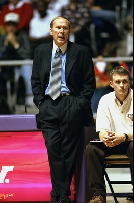 30 Dec 1998: Head coach Billy Tubbs of the Texas Christian Horned Frogs yells during the game against the Gonzaga Bulldogs at the Daniel-Meyer Coliseum in Fort Worth, Texas. The Horned Frogs defeated the Bulldogs 90-87. Mandatory Credit: Stephen Dunn  /Al