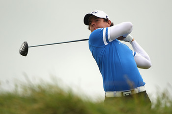 SANDWICH, ENGLAND - JULY 17:  Rory McIlroy of Northern Ireland tee's off at the 5th during the final round of The 140th Open Championship at Royal St George's on July 17, 2011 in Sandwich, England. (Photo by Scott Halleran/Getty Images)