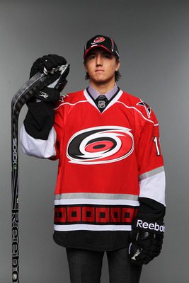 ST PAUL, MN - JUNE 25:  42nd overall pick Victor Rask by the Carolina Hurricanes poses for a portrait during day two of the 2011 NHL Entry Draft at Xcel Energy Center on June 25, 2011 in St Paul, Minnesota.  (Photo by Nick Laham/Getty Images)