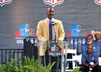 Art Monk was inducted into the Pro Football Hall of Fame in 2008. Photo by Mike Frandsen.