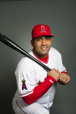 TEMPE, AZ - FEBRUARY 21: Kendry Morales #8 of the Los Angeles Angels of Anaheim poses during their photo day at Tempe Diablo Stadium on February 21, 2011 in Tempe, Arizona.  (Photo by Rob Tringali/Getty Images)