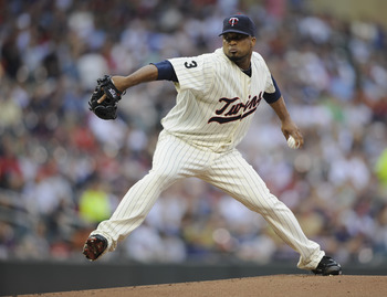 MINNEAPOLIS, MN - JULY 14: Francisco Liriano #47 of the Minnesota Twins delivers a pitch against the Kansas City Royals in the first inning on July 14, 2011 at Target Field in Minneapolis, Minnesota. (Photo by Hannah Foslien/Getty Images)