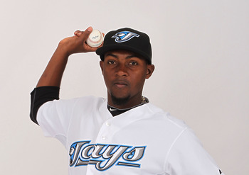 DUNEDIN, FL - FEBRUARY 20:  Joel Carreno #40 of the Toronto Blue Jays poses during photo day at Florida Auto Exchange Stadium on February 20, 2011 in Dunedin, Florida.  (Photo by Nick Laham/Getty Images)