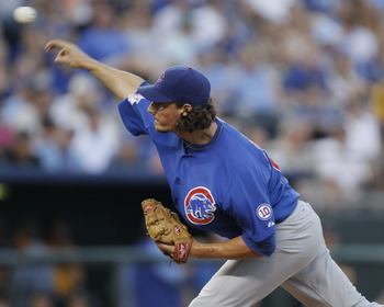 KANSAS CITY, MO - JUNE 25:  Relief pitcher Jeff Samardzija #29 of the Chicago Cubs throws against the Kansas City Royals at Kauffman Stadium on June 25, 2011 in Kansas City, Missouri. (Photo by Ed Zurga/Getty Images)