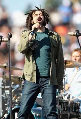 SAN FRANCISCO - JULY 09:  Singer Adam Duritz of the band Counting Crows peforms before during the 78th Major League Baseball All-Star Home Run Derby at AT&T Park on July 9, 2007 in San Francisco, California.  (Photo by Jed Jacobsohn/Getty Images)