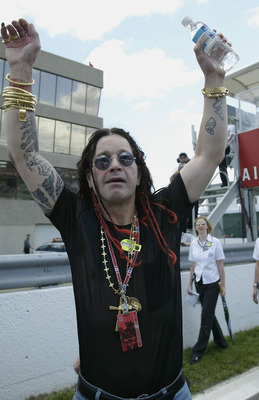 MONTREAL, CANADA - JUNE 15:  Rock star Ozzy Osbourne attends the Formula One Canadian Grand Prix at the Circuit Gilles-Villeneuve, on June 15 2003 in Montreal, Canada. (Photo by Mark Thompson/Getty Images)