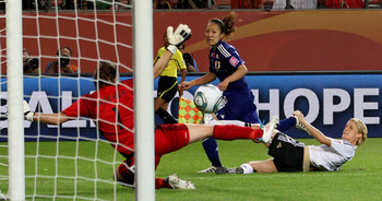Karina Maruyama scores the winning goal against Germany