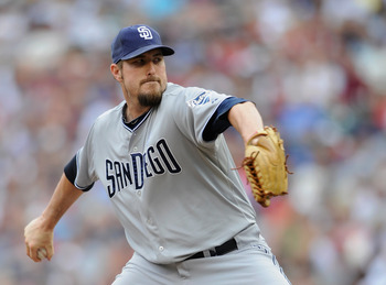 MINNEAPOLIS, MN - JUNE 19: Chad Qualls #50 of the San Diego Padres delivers a pitch against the Minnesota Twins in the ninth inning on June 19, 2011 at Target Field in Minneapolis, Minnesota. The Twins defeated the Padres 5-4. (Photo by Hannah Foslien/Get