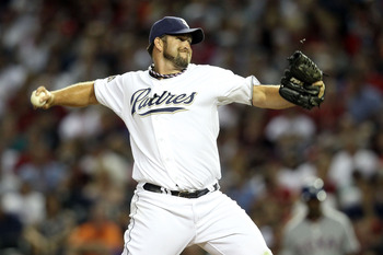 PHOENIX, AZ - JULY 12:  National League All-Star Heath Bell #21 of the San Diego Padres throws a pitch in the eighth inning of the 82nd MLB All-Star Game at Chase Field on July 12, 2011 in Phoenix, Arizona.  (Photo by Christian Petersen/Getty Images)