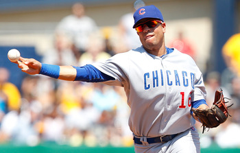PITTSBURGH, PA - JULY 10:  Aramis Ramirez #16 of the Chicago Cubs throws to first base against the Pittsburgh Pirates during the game on July 10, 2011 at PNC Park in Pittsburgh, Pennsylvania.  (Photo by Jared Wickerham/Getty Images)