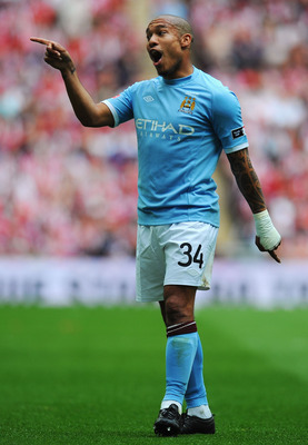 LONDON, ENGLAND - MAY 14:  Nigel de Jong of Manchester City is seen during the FA Cup sponsored by E.ON Final match between Manchester City and Stoke City at Wembley Stadium on May 14, 2011 in London, England.  (Photo by Mike Hewitt/Getty Images)