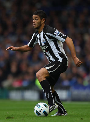 LIVERPOOL, ENGLAND - SEPTEMBER 18:  Hatem Ben Arfa of Newcastle United in action during the Barclays Premier League match between Everton and Newcastle United at Goodison Park on September 18, 2010 in Liverpool, England.  (Photo by Alex Livesey/Getty Imag