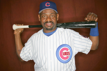 MESA, AZ - FEBRUARY 24: Marquis Grissom #3 of the Chicago Cubs poses during Spring Training Photo Day at Fitch Park on February 24, 2006 in Mesa, Arizona.  (Photo by Ronald Martinez/Getty Images)
