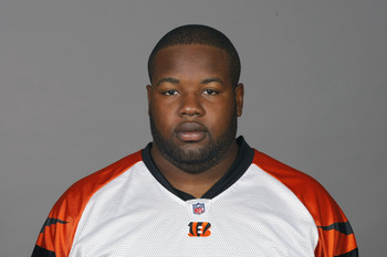 CINCINNATI, OH - CIRCA 2010: In this handout image provided by the NFL, Andre Smith of the Cincinnati Bengals poses for his 2010 NFL headshot circa 2010 in Cincinnati, Ohio.  (Photo by NFL via Getty Images)